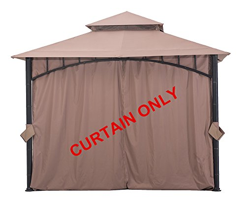 Cheap Sunjoy Curtain Accessory Replacement for Gazebo D-GZ136PST-N