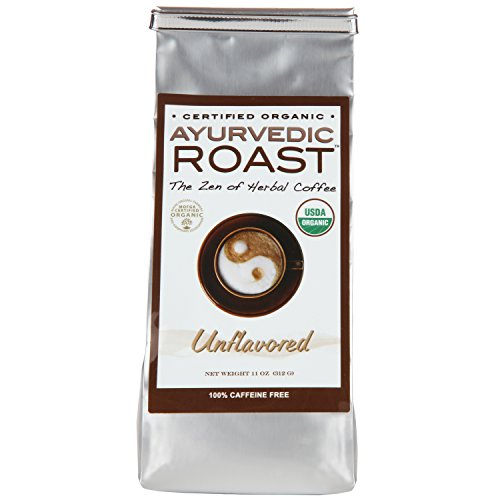 Free Roast Coffee - Organic Coffee Substitute Caffeine Free Acid Free Herbal Coffee Alternative Grain Beverage Energy Vegan GMO-Free with Barley Chicory Ashwagandha Brahmi 11OZ.