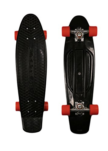 Style Graphic Complete Skateboard, Black/Red ()