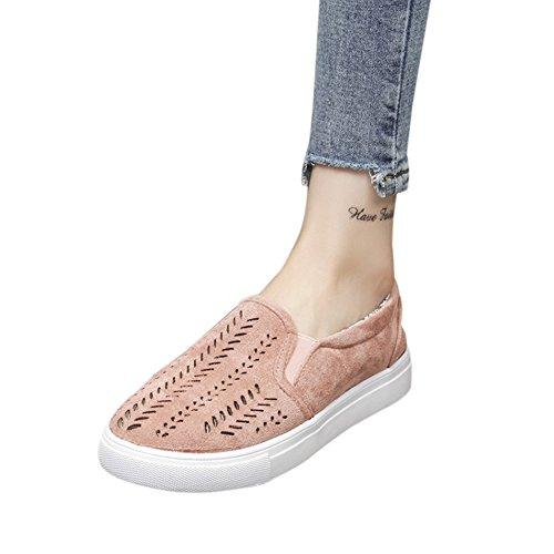 Fereshte Mannen Vrouwen Paar Casual Sneakers Ademende Atletische Sportschoenen Antislip Lace Up Wandelschoenen Voor Gym ... Roze