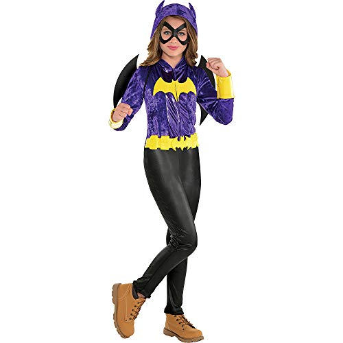 Costumes USA DC Super Hero Girls Batgirl Jumpsuit Costume for Girls, Size Small, Includes Jumpsuit, Eye Mask, and More