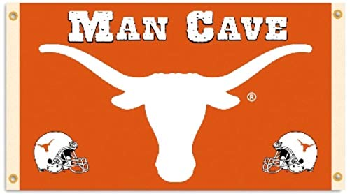 Texas Longhorns Man CAVE 3x5 Flag Outdoor House Banner University of