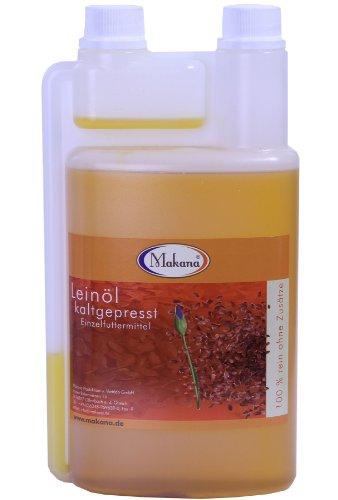 Makana Leinöl für Tiere, kaltgepresst, 1 Liter Dosierflasche, 1er Pack (1 x 1 L)