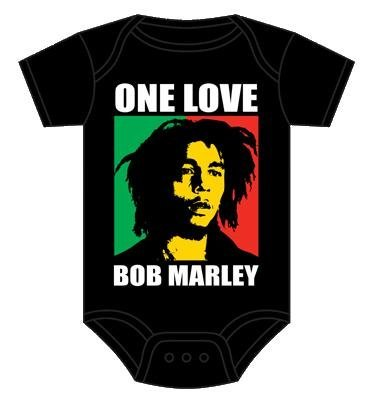 Bob Marley One Love Infant Baby Romper Snapsuit Onesie Black 6M by Bob Marley (Image #2)