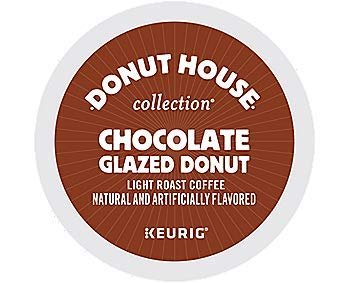 Donut House Collection Chocolate Glazed Donut, Single Serve Coffee K-Cup Pod, Flavored Coffee, 72 from Donut House Collection