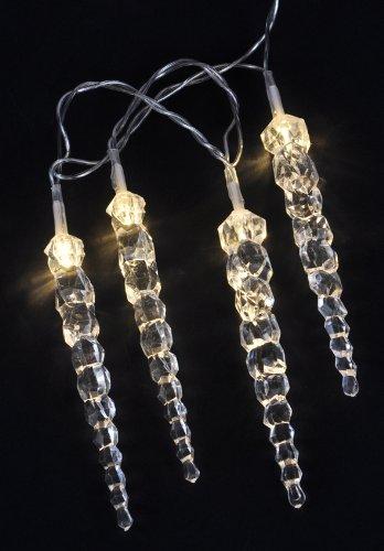 LED Eiszapfen Lichterkette in warmweiß - 40 Zapfen