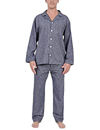 PLATINUM SPORT Men's 100% Cotton Yarn-Dyed Flannel 2 Piece Pajama Set