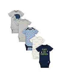 Gerber Baby-Boys Baby Boys 5-Pack Short-Sleeve Onesies Bodysuits 4a29abf0b