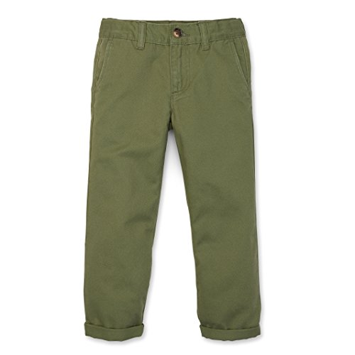 Olive Chino (Hope & Henry Boys' Olive Twill Chinos Made With Organic Cotton Size 8)