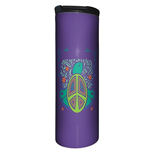 Tree-Free Greetings BT21266 Barista Tumbler Vacuum Insulated, Stainless Steel Travel Coffee Mug/Cup, 17 Ounce, Good Karma -