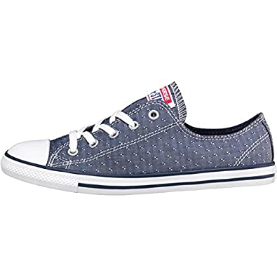 07556df1e84c33 Converse Womens CT All Star Ox Dainty Chambray Navy (6 Sold Out ...