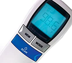 MOBI Dual Scan Air Non-Contact Digital Forehead Thermometer High Fever Indicator