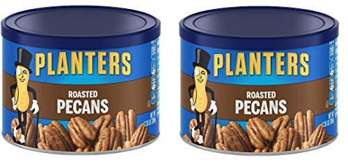 Planters Pecans, Roasted and Salted, 7.25 Ounce Canister, 2 Tubs by Planters
