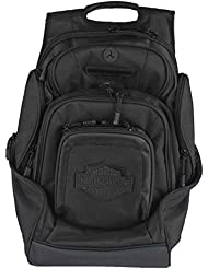 Harley-Davidson Sculpted Bar & Shield Deluxe Backpack, Black BP2000S-BLKBLK