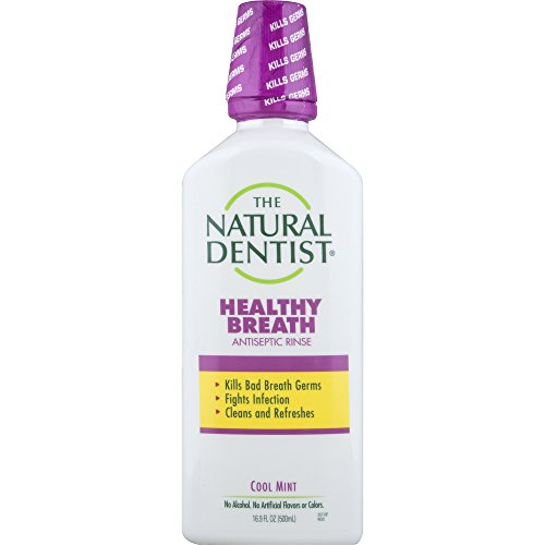 The Natural Dentist Healthy Breath Antiseptic Mouth Wash, Cool Mint, 16.9 Ounce ()