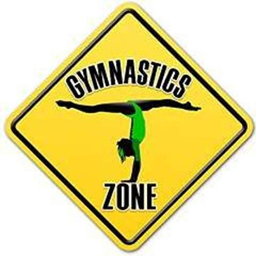Signs Authority 女の子用 体操 モチベーション向上 装飾 体操ゾーン ダイヤモンド型サイン 寝室やトレーニングエリアやギフトに | 屋内 屋外用 | 丈夫な軽量プラスチック (3個パック) 9×9インチ