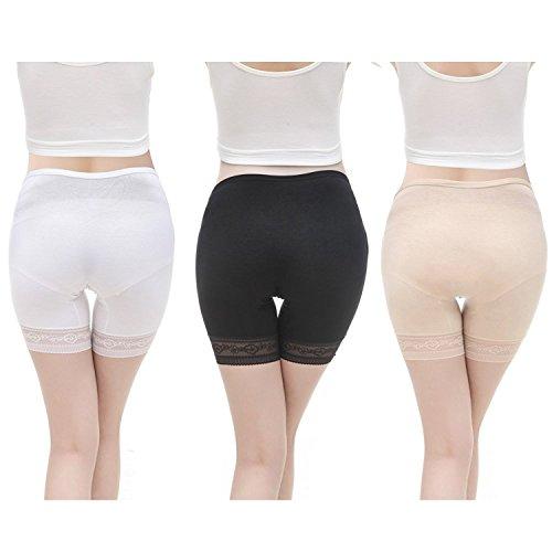 VIGOO 3PCS Cotton Maternity Pregnant Mother Panties Lingerie Briefs Underpants Underwear (Label L/US M, 3 Pack(Black/Beige/White)) by VIGOO (Image #1)
