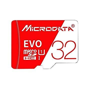 Garmol Tarjeta de Memoria TF (Micro SD) roja y Blanca U1 de ...