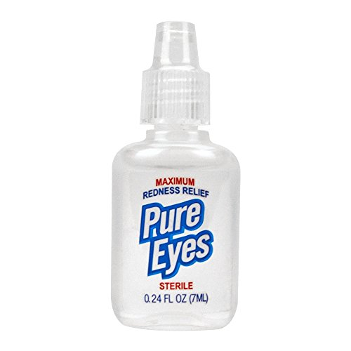 Pure Eyes Sterile Maximum Redness Relief Eye Drops Pocket and Travel Size 0.24 fl. oz. 7ml (Pack of 24) by PURE PLANT HOME