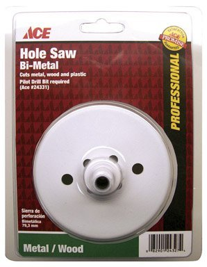 - Ace 3-1/2 in. Dia. Bi-Metal Variable Pitch Hole Saw (24329A)