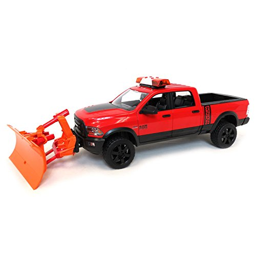 Truck Dodge Plow Snow (Bruder Toys 1/16 BRUDER RAM 2500 Power Wagon Truck with Snow Plow and Flashing Lights)
