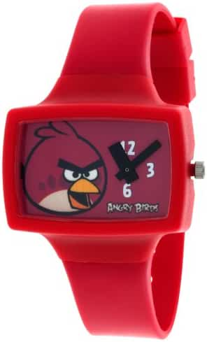 Angry Birds Red Pig-Poppin' Action Analog Watch ANBKQ030