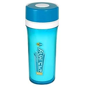 Colador Cilindro botella de agua 350ML de capacidad Clara Luz Azul Blanco