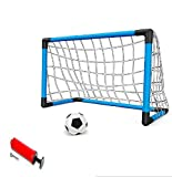 Junior Soccer Goals Set Inflatable Soccer Ball and Air Bump for Kids Soccer Game Toy Football Training Set Goal Post Set