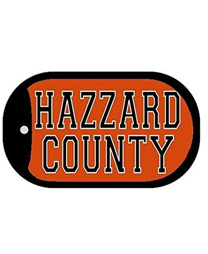 Dukes Of Hazzard Dog Tag 2 Inch Metal Novelty Necklace Hazzard County ()