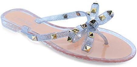 9 VICTORIA ADAMES Valencia Glitter Jelly Sandals Fuchsia
