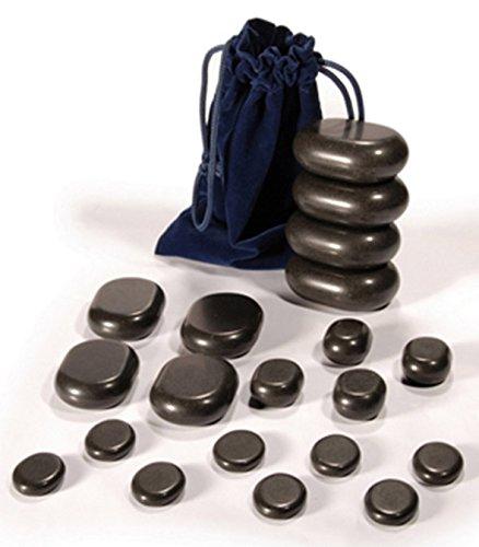 DevLon Northwest Hot Stone Massage Set Basalt Stones Set with Free Velvet Bag 20 PC