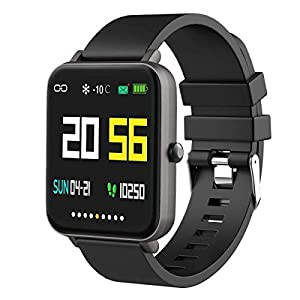 Foronechi Smart Watch for Android/Samsung/iPhone, Activity Fitness Tracker with IP68 Waterproof for Men Women & Kids, Smartwatch with 1.54″ Full-Touch Color Screen, Heart Rate & Sleep Monitor, Gun