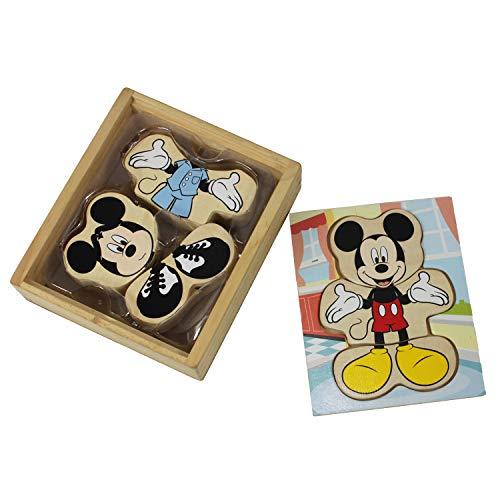 Dazzling Deals Mickey Mouse Wooden Mix & Match Dress Up]()