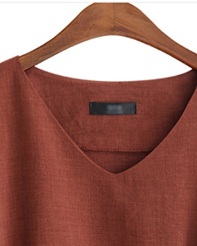 Grande Taille Vin Blouse Bowknot Col Tops Courte Haut Rouge Slim Manche Chemise Causal Femme V 7vRHHPU