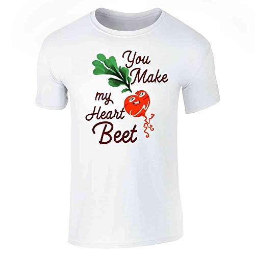 059f53399ecd Pop Threads You Make My Heart Beet Funny Cute Pun White L Short Sleeve T-