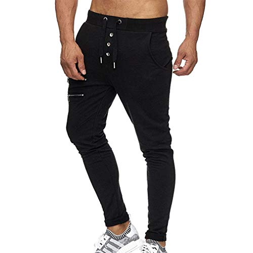 Extérieur Noir Pantalon Adelina Hommes Élastique Randonnée Survêtements Cordon Vêtements Avec Casual Poches Travail Taille La A6P6waq