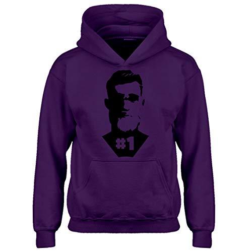 Kids Hoodie Number One Youth XL - (14) Purple Hoodie -
