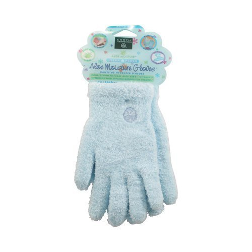 Earth Therapeutics Aloe Moisture Gloves, Ultra Plush Blue, 1 Pair