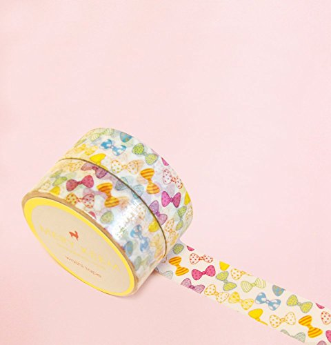Colorful Bows Washi Tape for Planning • Scrapbooking • Arts Crafts • Office • Party Supplies • Gift Wrapping • Colorful Decorative • Masking Tapes • D…