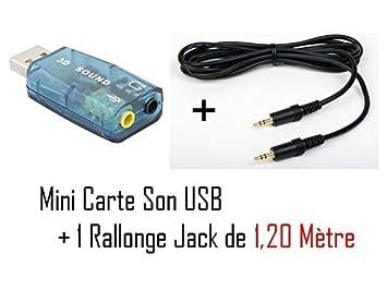 CABLING-Tarjeta de sonido externa para puerto USB 5,1, entrada ...