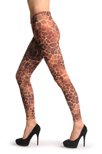 African Giraffe - Rouge Leggings Taille Unique (34-40)