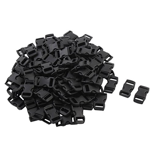 uxcell Outdoor Travel Backpack Adjustable Bag Dual Pinch Release Buckle 100pcs Black by uxcell