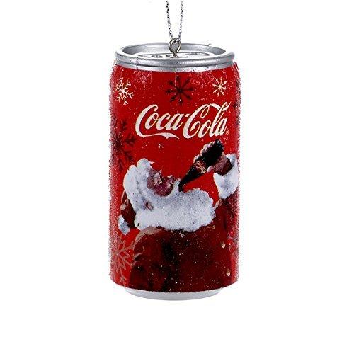 Kurt Adler Coca-Cola Santa Can Ornament #CC1152