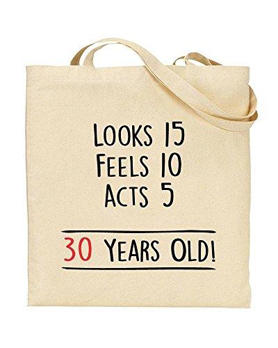 Novelty Handbag Dirty by Shopping Old TeeDemon® 30 30th Gift Birthday Years Thirty TOTE Bag vFBwBq