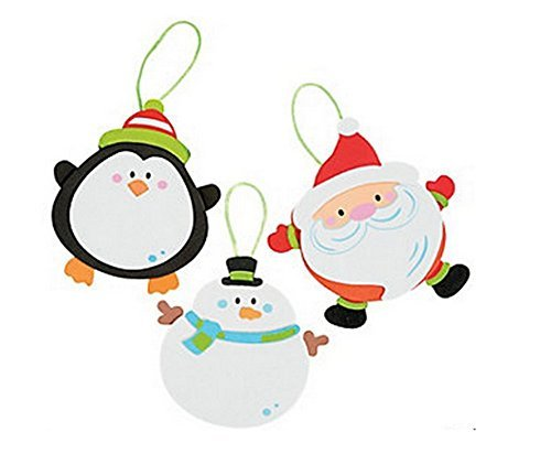 - Foam Round Christmas Character Ornament Craft Kit (Makes 12)