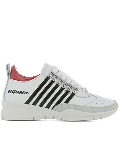 Dsquared2 Women's SNW010106500427M072 White Leather Sneakers purchase outlet release dates free shipping clearance store buy online authentic UTFu5lp5Y
