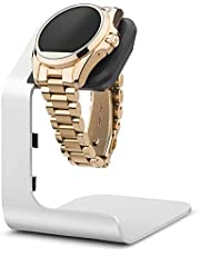 Tranesca Aluminum Watch Stand for Multiple Brand smartwatches - Stand only (Compatible with Michael Kors, Armani, Diesel, Fossil and More, Must Have smartwatch Accessories)