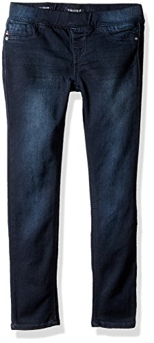 Vigoss Big Girls' 5 Pocket Classic Pull on Skinny Jean, Blue Blood, 7 by VIGOSS