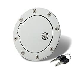 Suburban/Tahoe Fuel Gas Tank Door with Lock (Chrome) - GMT400