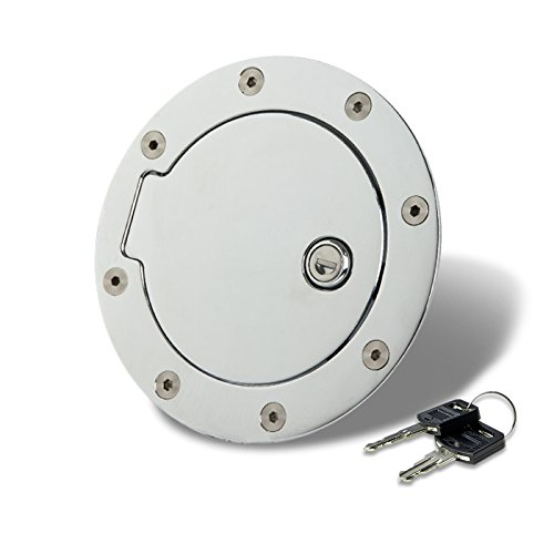 For Suburban/Tahoe Fuel Gas Tank Door with Lock (Chrome) - GMT400